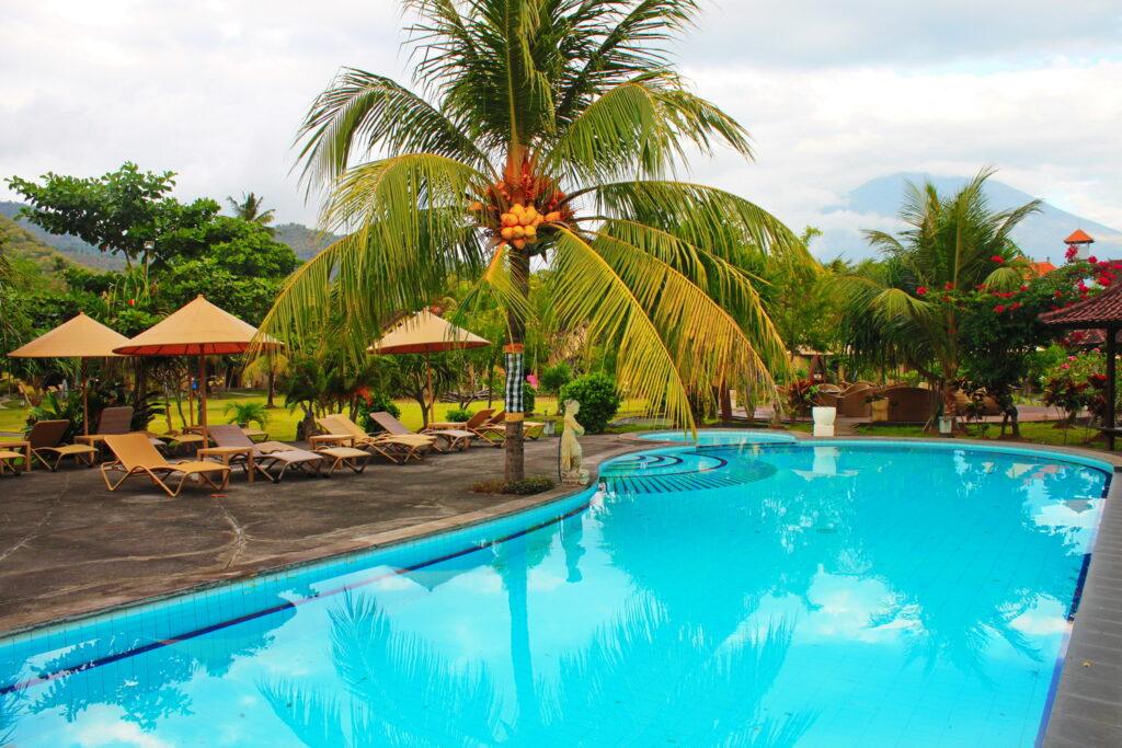 beach pool at Hotel Uyah Amed & Spa Resort Bali