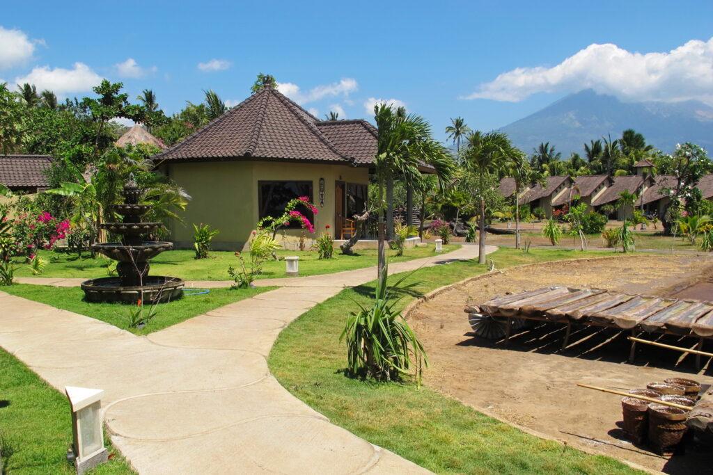 villa familiale avec le sel traditionnel à l'hôtel Uyah Amed Bali