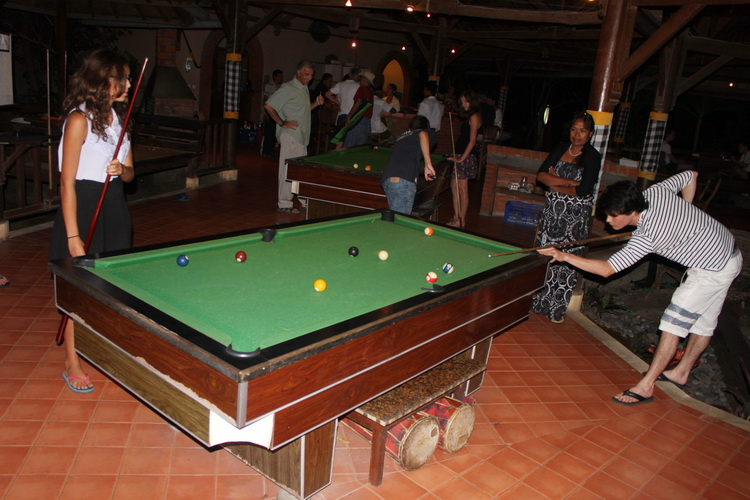 billiard table in Cafe Garam