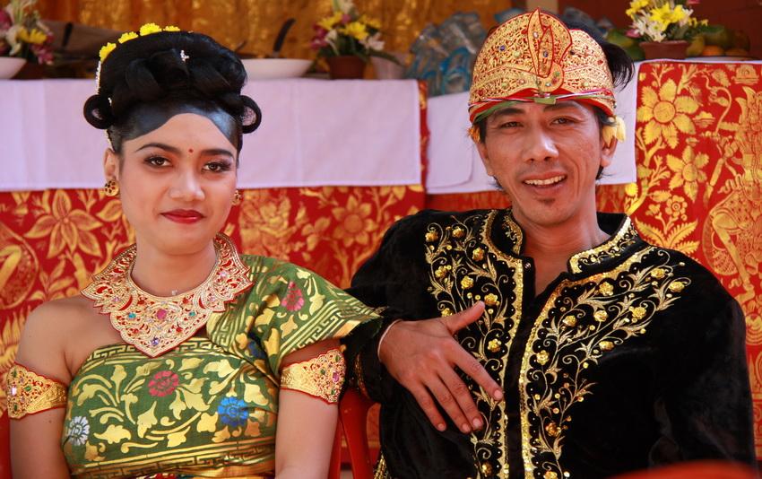 cérémonie de mariage traditionnelle balinaise